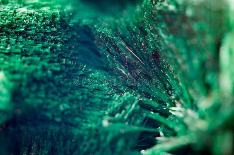 Bello fondo verde di malachite minerale naturale Macro immagine stock libera da diritti