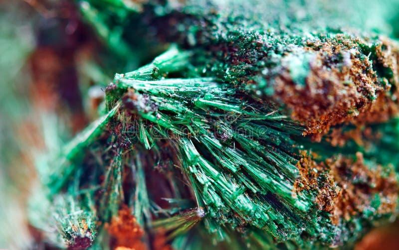 Bello fondo verde di malachite minerale naturale Macro fotografie stock