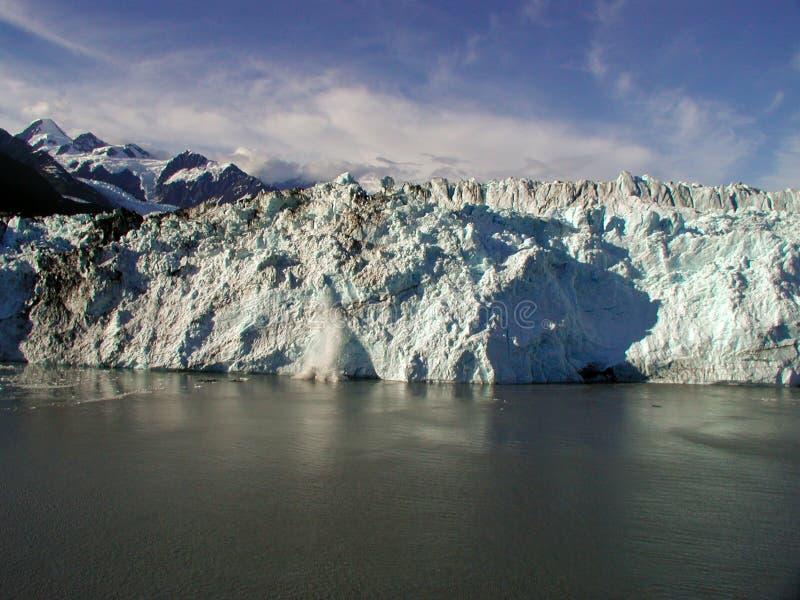 Bello ghiacciaio d'Alasca fotografie stock libere da diritti