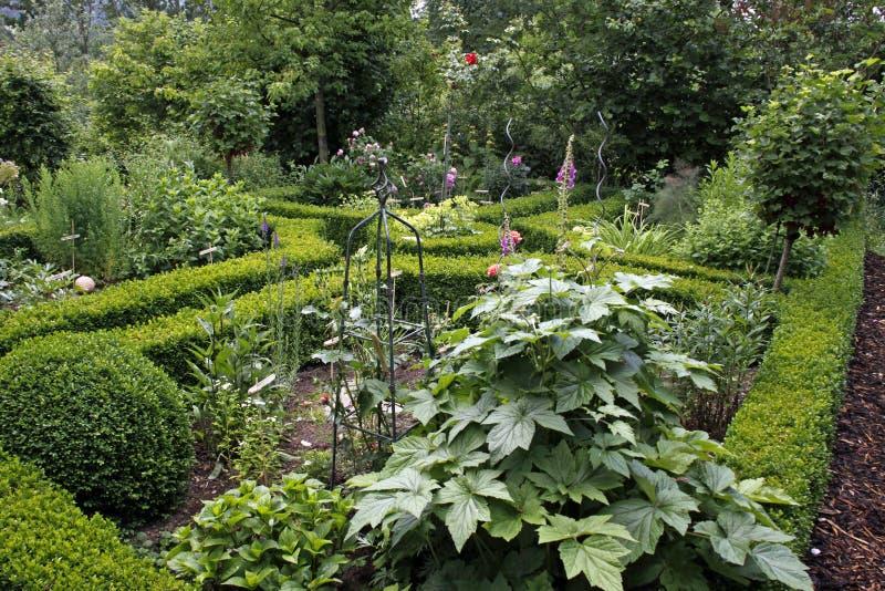 Bello giardino del cottage fotografia stock