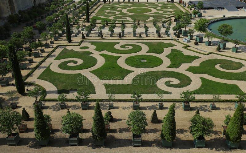 Bello giardino in un palazzo famoso Versailles Il palazzo Versailles era un castello reale Parigi, Francia fotografia stock