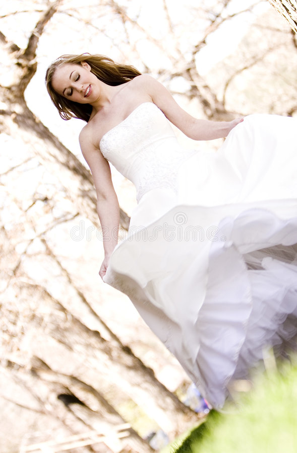 Bello gioco della sposa fotografia stock