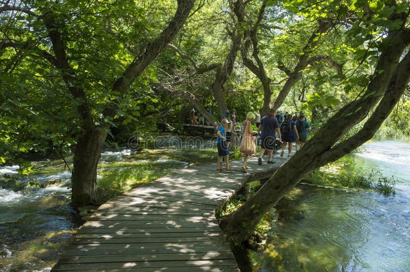 Bello giorno di estate soleggiato nel parco nazionale Croazia Europa di Krka fotografia stock