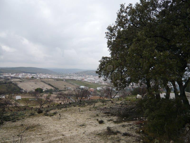 Bello giorno nuvoloso in Spagna fotografia stock libera da diritti