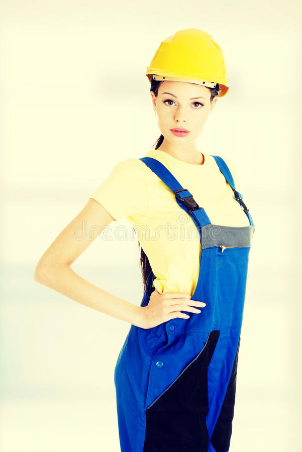 Bello giovane craftswoman immagine stock