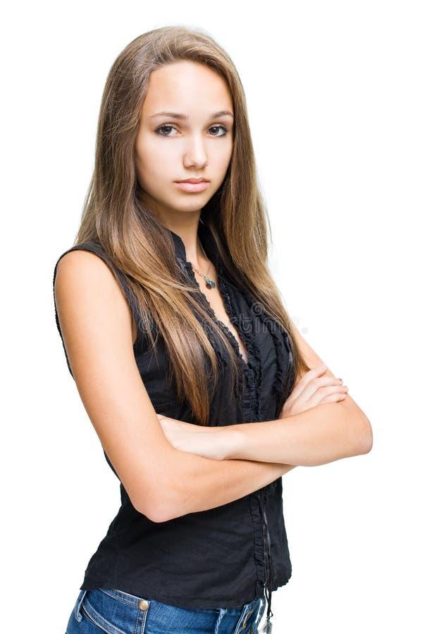 Bello giovane modello del brunette. fotografie stock