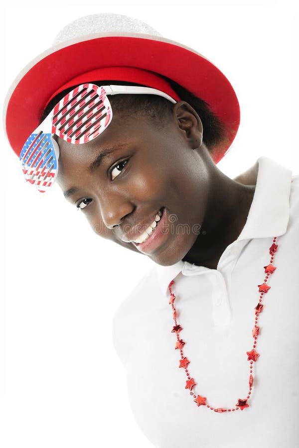 Bello giovane patriota fotografia stock