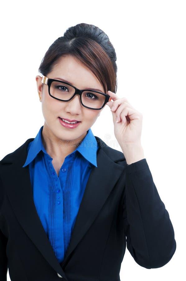 Bello giovane sorridere della donna di affari immagini stock libere da diritti