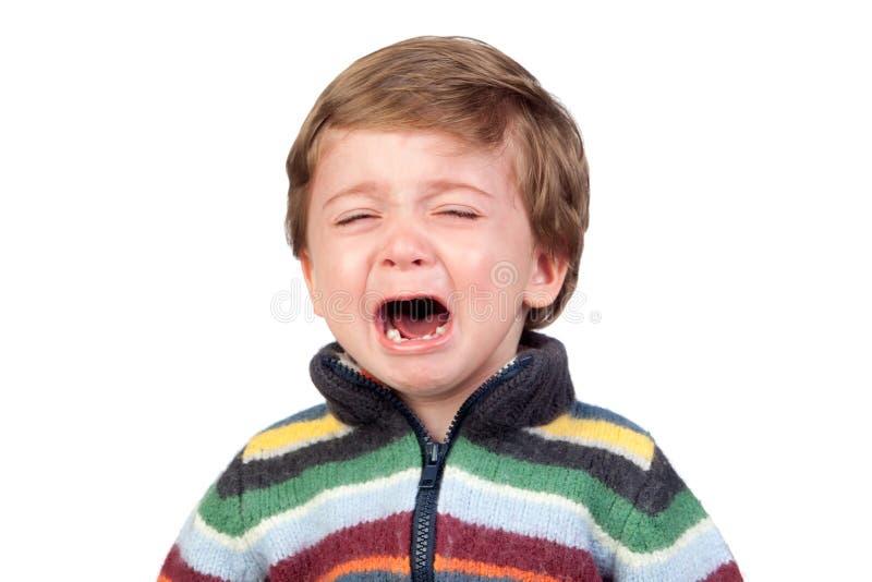 Bello gridare del bambino fotografia stock libera da diritti