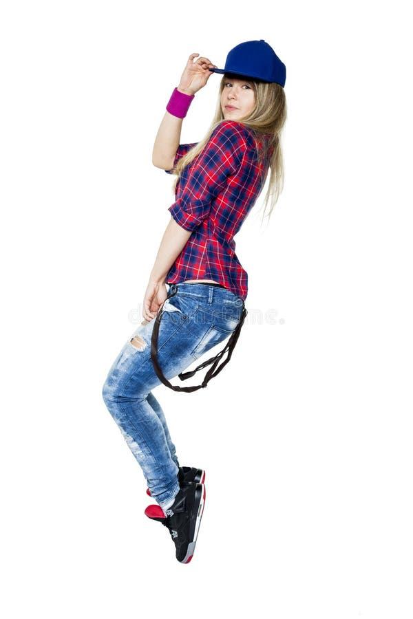 Bello hip-hop di dancing della ragazza fotografia stock libera da diritti