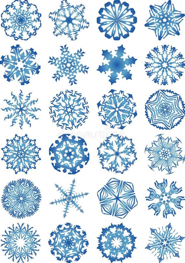 Bello insieme dell'icona dei fiocchi di neve royalty illustrazione gratis