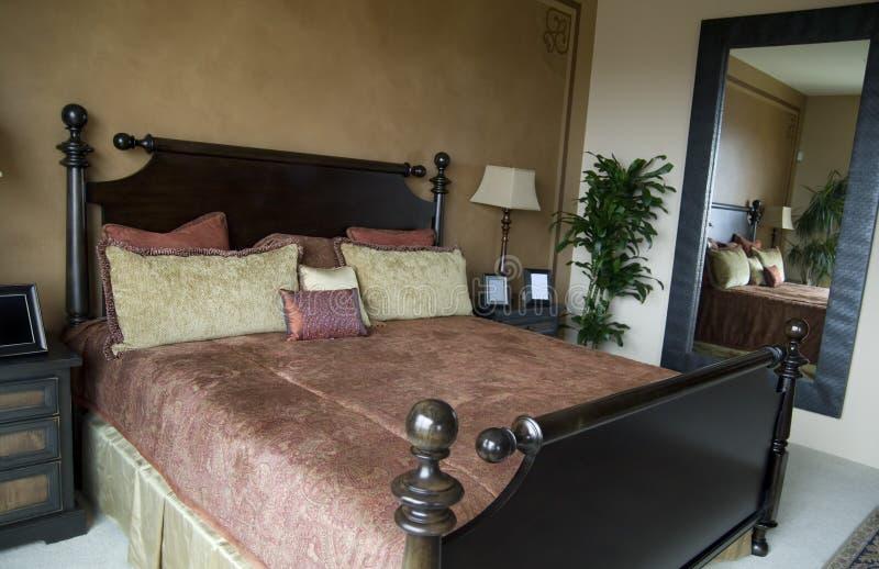 Bello interiore della camera da letto fotografia stock