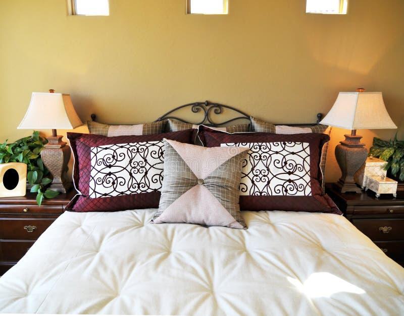 bello interiore di disegno della camera da letto immagine stock
