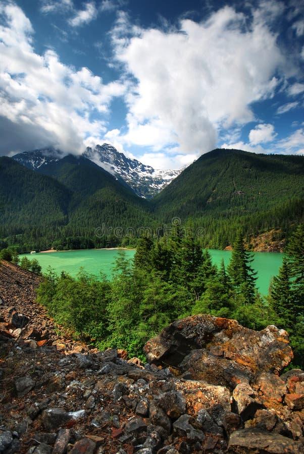 Bello lago diablo immagine stock