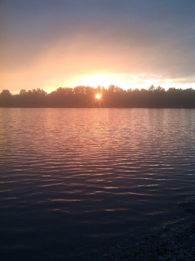Bello lago, natura fotografie stock