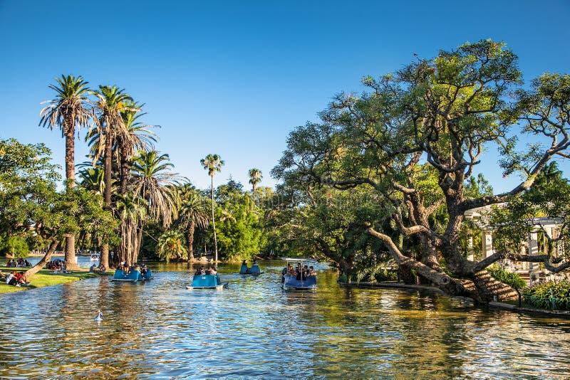 Bello lago park di Palermo, Buenos Aires, Argentina immagine stock