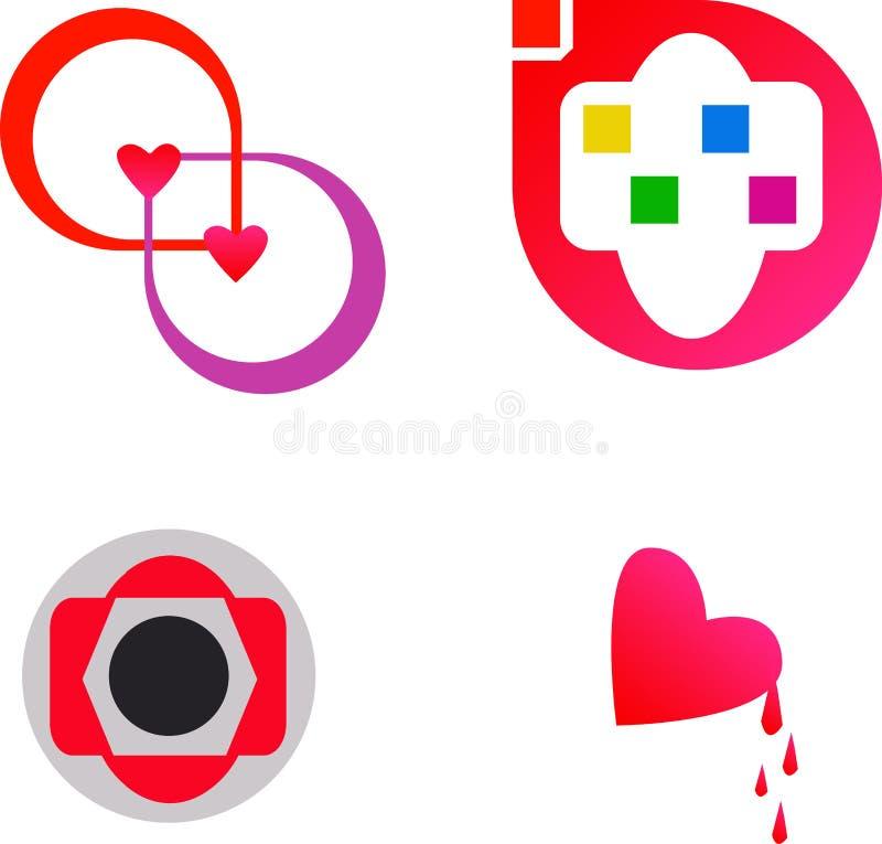 Bello logo astratto di vettore illustrazione di stock