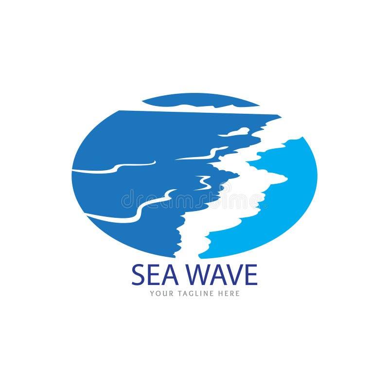 Bello logo dell'onda illustrazione di stock