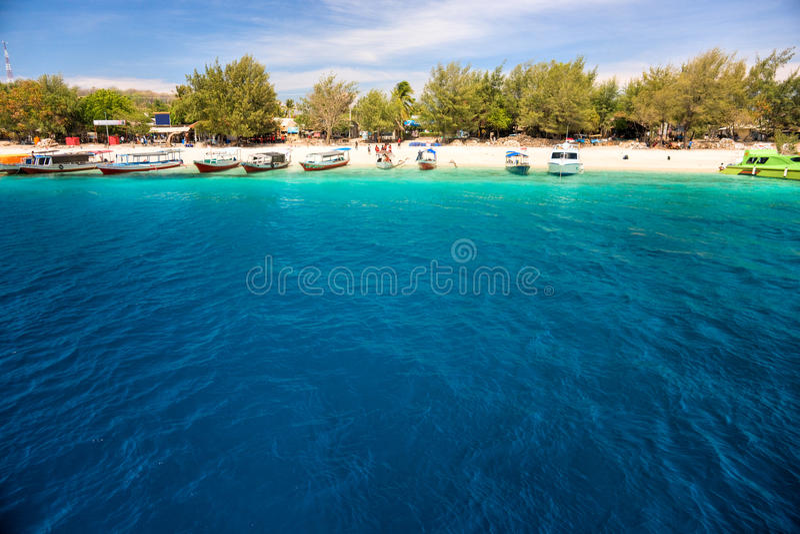 Bello mare a Gili Trawangan, Indonesia. fotografia stock