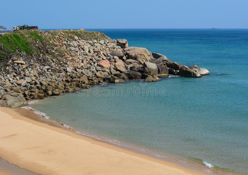 Bello mare in Phu Yen, Vietnam fotografia stock libera da diritti