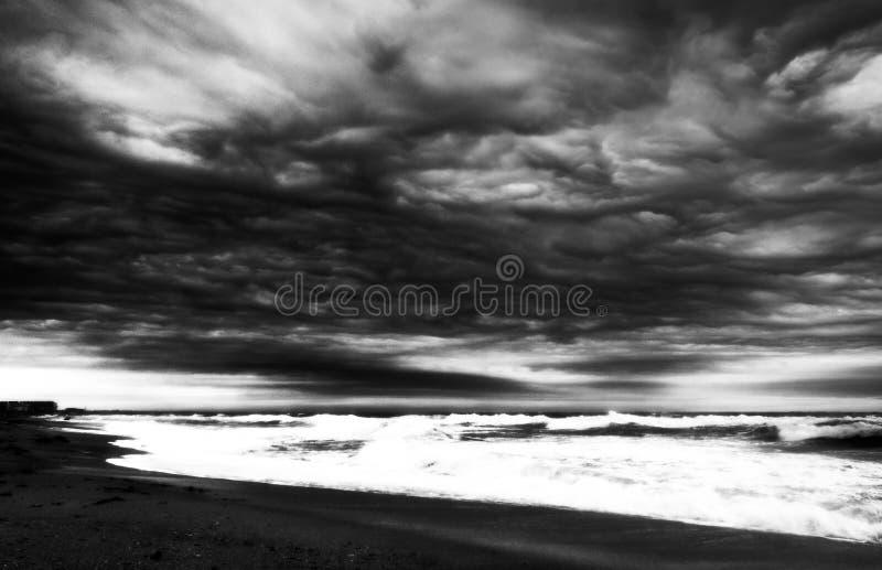 Bello mare tempestoso fotografie stock libere da diritti