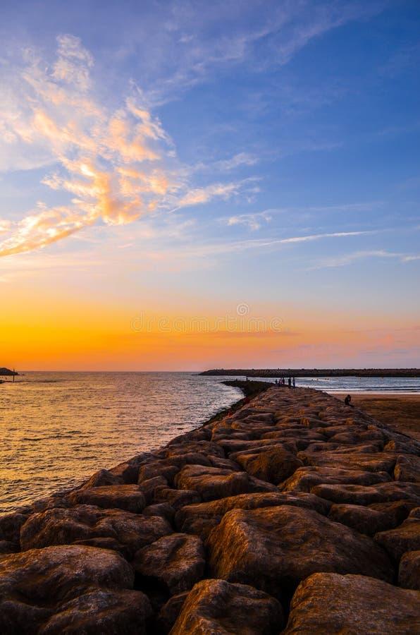 Bello marocchino Autumn Sunset fotografia stock libera da diritti