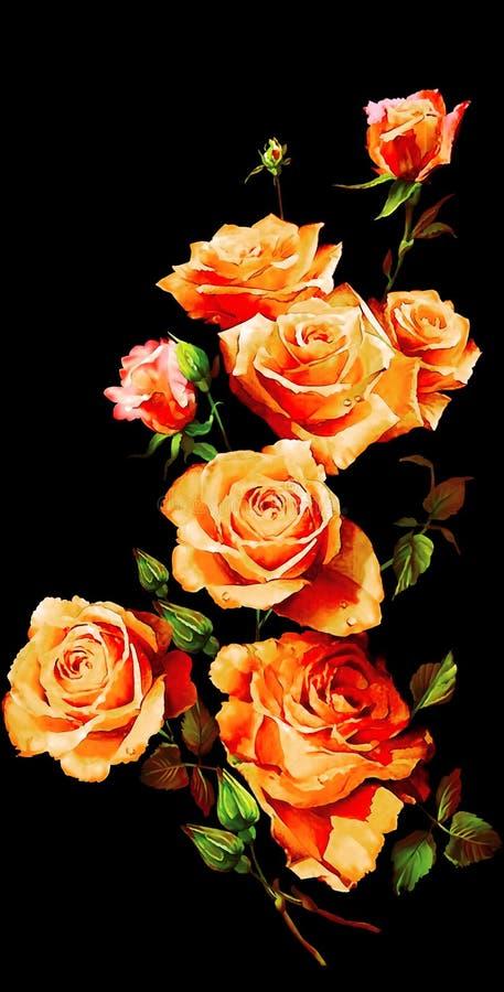 Bello mazzo del fiore royalty illustrazione gratis