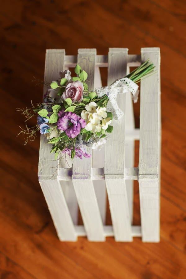 Bello mazzo di nozze fatto del polimero clay-3 immagini stock