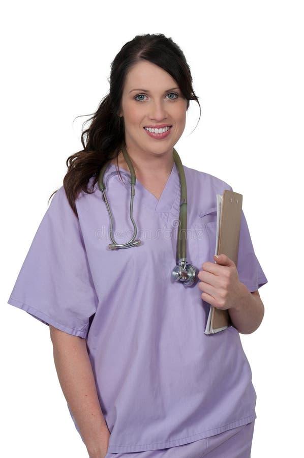 Bello medico della donna fotografie stock