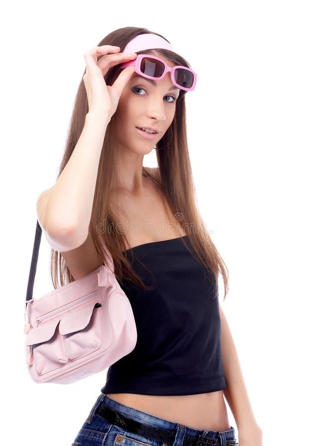 Download Bello modello fotografia stock. Immagine di borsa, sensuality - 7323428