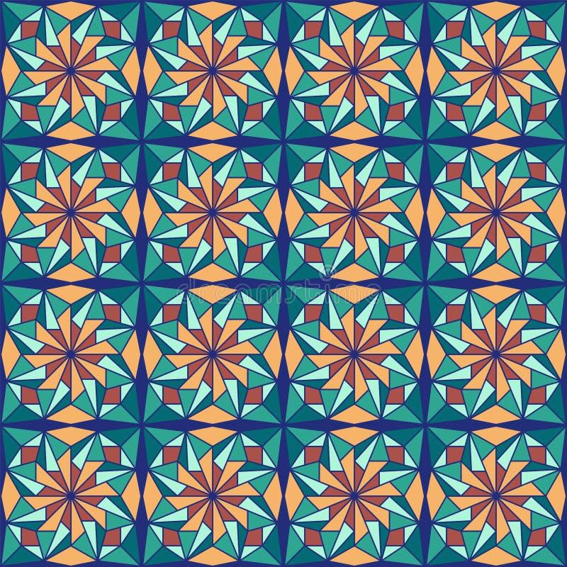 Bello modello arabo di progettazione con il modello arabo senza cuciture Progettazione islamica astratta Modello di Girih illustrazione di stock