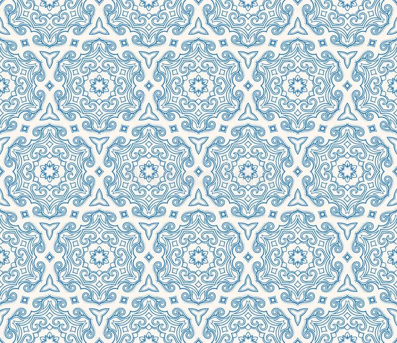 Bello modello esagonale blu royalty illustrazione gratis