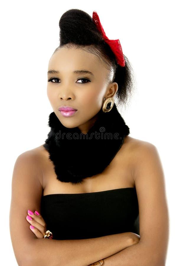 Bello modello femminile africano fotografie stock libere da diritti