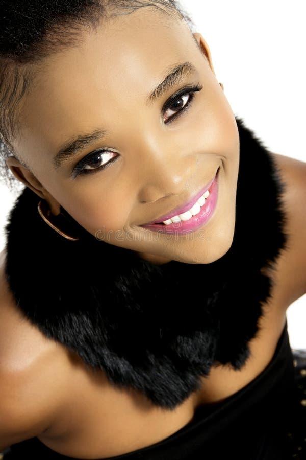 Bello modello femminile africano fotografia stock