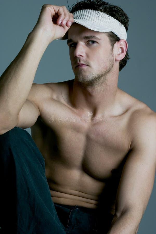Bello modello maschio fotografia stock