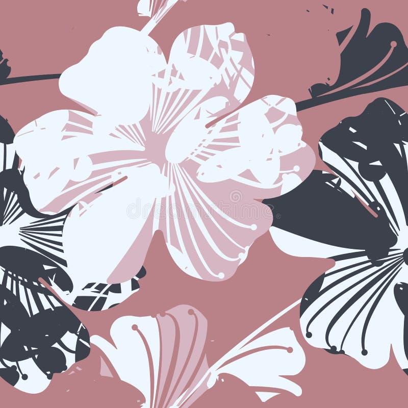 Bello modello senza cuciture con i fiori fotografie stock libere da diritti