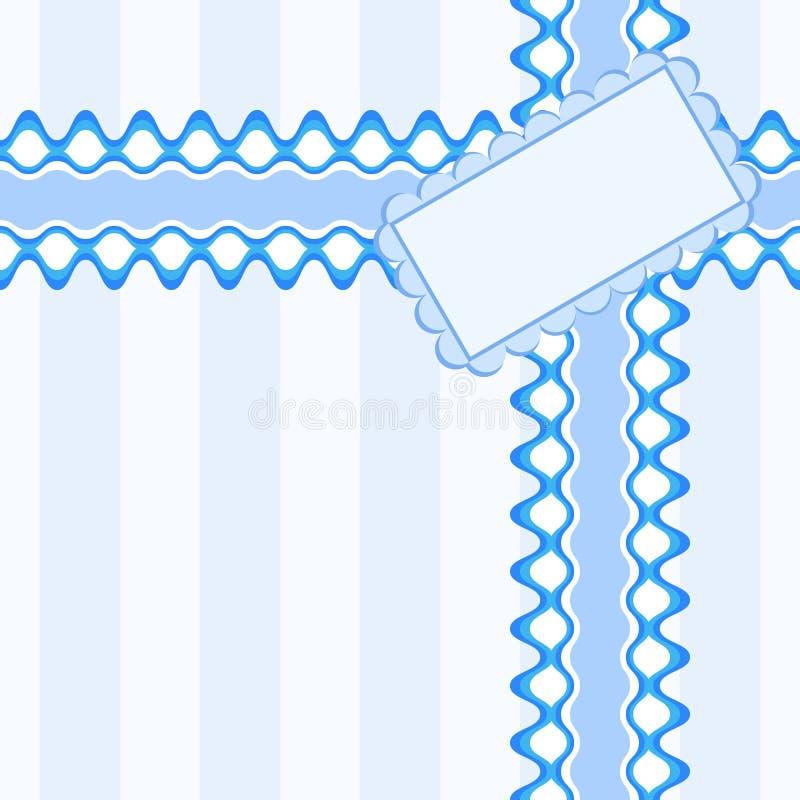 Bello modello senza cuciture con pizzo e carta nel colore blu illustrazione vettoriale