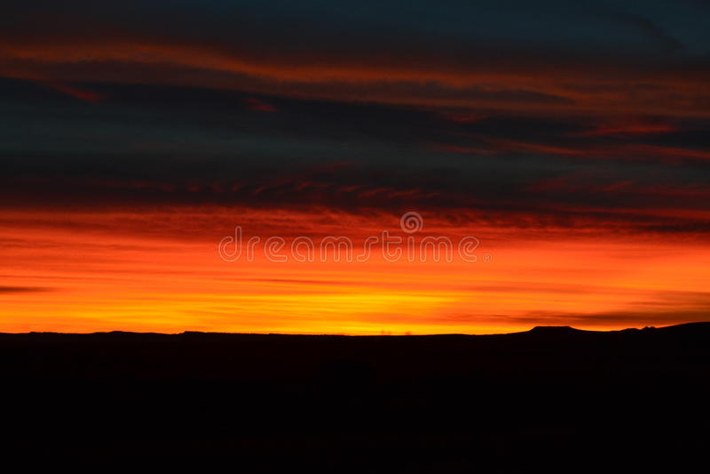 Bello Montana Sky fotografie stock