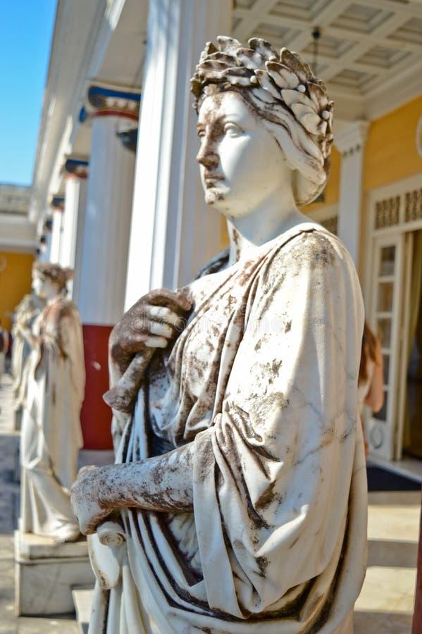 Bello monumento nel castello di principessa Sissi immagine stock