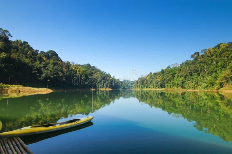 Bello paesaggio alla foresta tropicale reale di Belum in Malesia fotografia stock