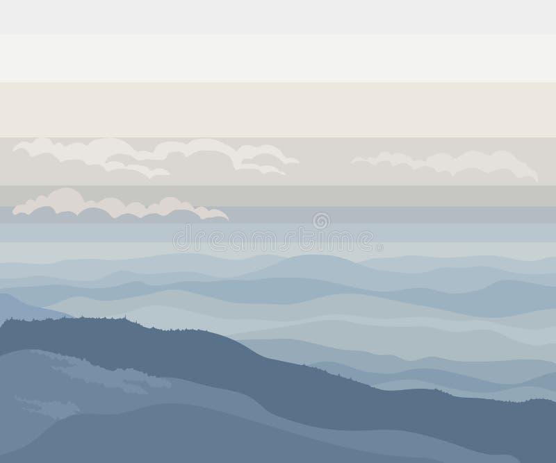 Bello paesaggio con le montagne fotografia stock libera da diritti
