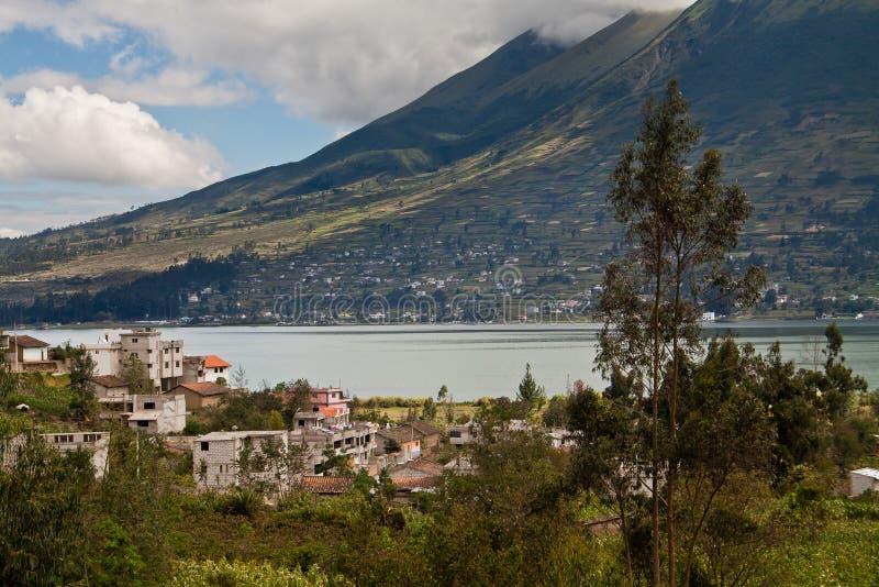 Bello paesaggio del lago san Pablo con fotografia stock libera da diritti