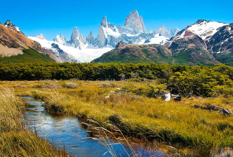 Bello paesaggio della natura nel Patagonia, Argentina fotografie stock