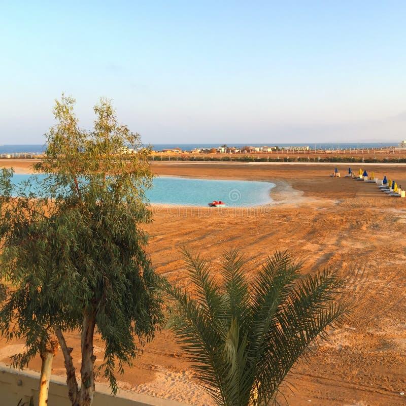 Bello paesaggio in Hurghada fotografia stock libera da diritti