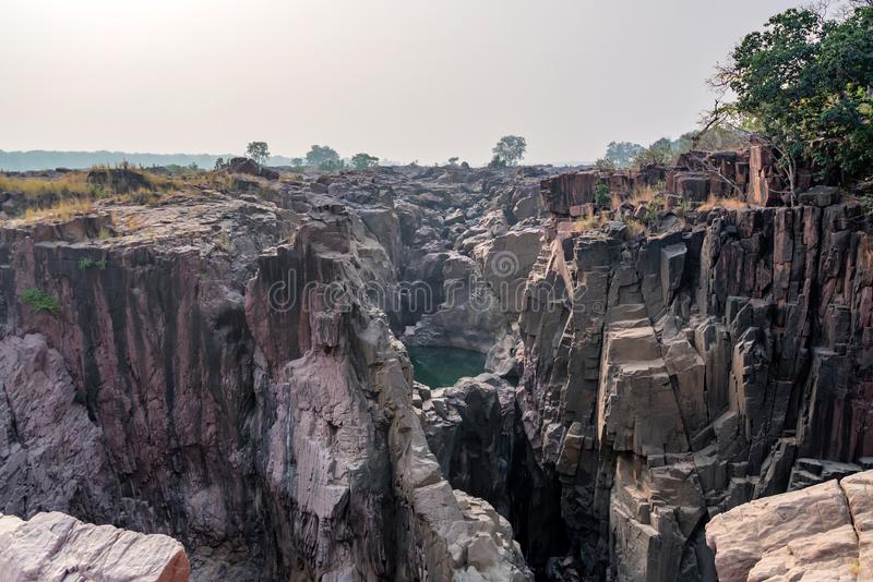 Bello paesaggio indiano con la caduta di Raneh immagine stock libera da diritti