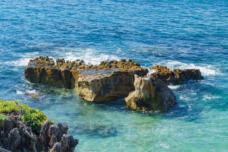 Bello paesaggio intorno al Laguna Beach fotografie stock
