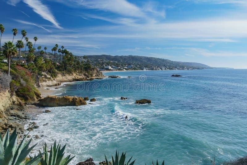 Bello paesaggio intorno al Laguna Beach fotografia stock
