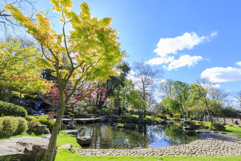 Bello paesaggio intorno a Holland Park immagine stock