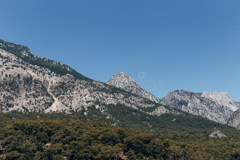 Bello paesaggio nel Mountain View Bella vista delle montagne di Toro fotografie stock libere da diritti