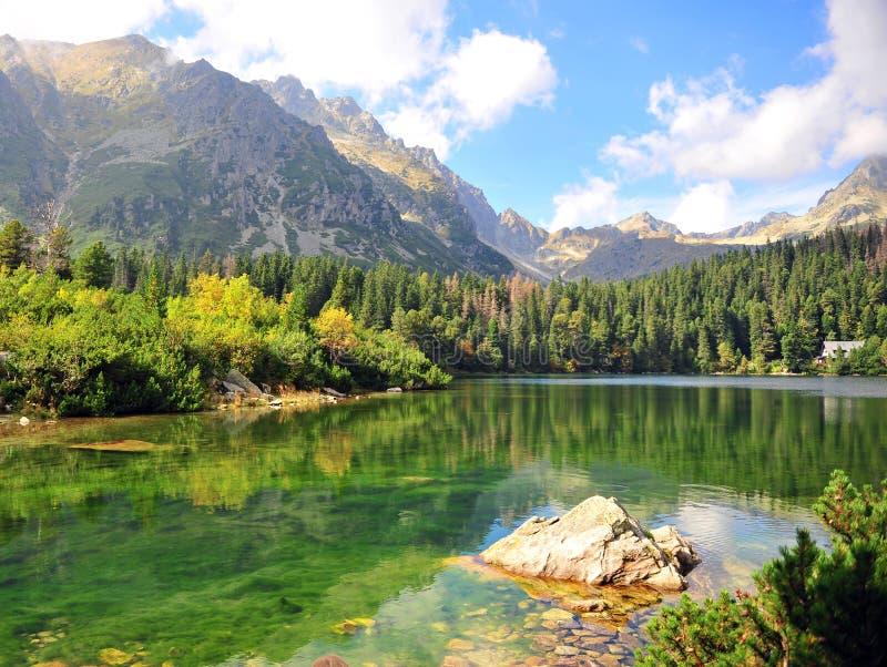 Bello paesaggio nell'alto parco nazionale di Tatras fotografie stock libere da diritti